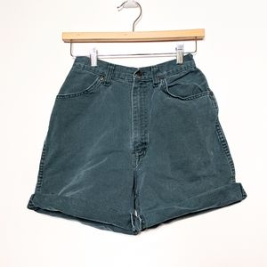 Vintage High Waisted Jean Shorts Teal